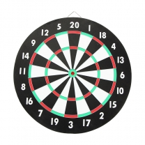 18 x 1 inch paper dartboard with 6 x 8g steel darts
